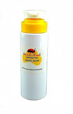 Antiseptic Liquid Soap 250ml with Emu Oil, Tea Tree & Manuka Essential Oils