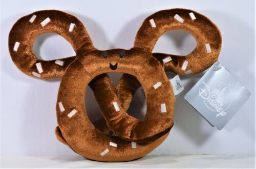 """Disney Park Exclusive 2018 10/"""" Mickey Mouse Salted Pretzel Plush Toy NEW CUTE"""