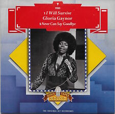 """Gloria Gaynor - I Will Survive / Never Can Say Goodbye 7"""" NM U.K. 45rpm w/ PS"""