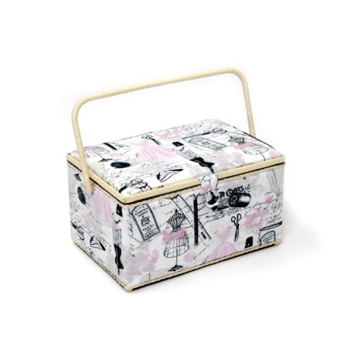Xlarge size Pretty Tailoring HGXL\157 HobbyGift Classic Range Sewing Basket