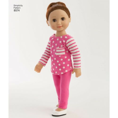 """SEWING PATTERN 14/"""" DOLL CLOTHES FIT AMERICAN GIRL WELLIEWISHER~HEART FOR HEART"""