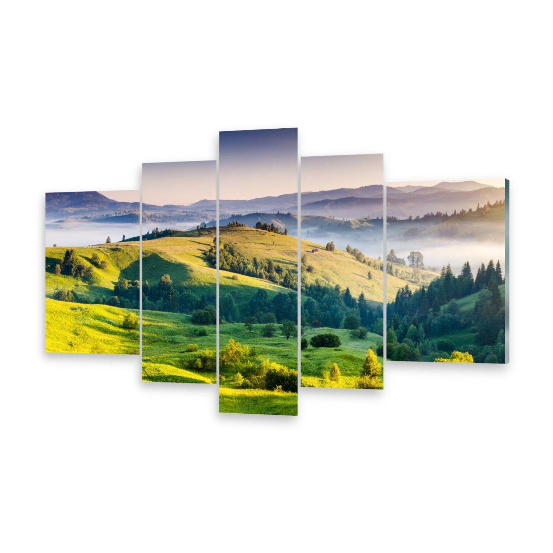 Mehrteilige Bilder Acrylglasbilder Wandbild Sonne Berge