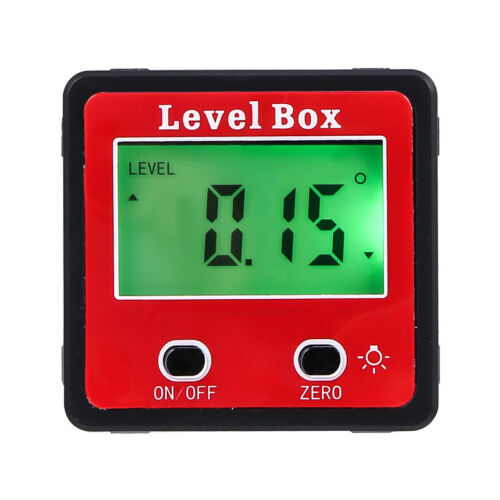 Mini LCD Digital Protractor Gauge Level Angle Finder Inclinometer Magnet Base
