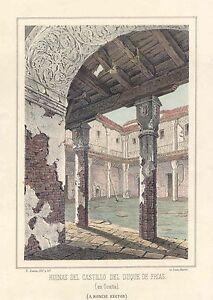 Espana-Toledo-Ocana-Ruinas-del-Castillo-del-Duque-de-Frias