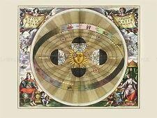 SPACE MAP  CELLARIUS MACROCOSMICA SOUTH CELESTIAL SPHERE REPLICA PRINT PAM2188