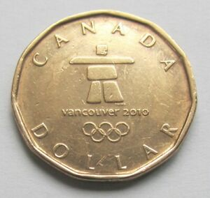 2010-CANADA-OLYMPICS-INUIT-COMMEMORATIVE-LOONIE-combined-shipping