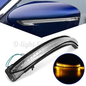 Left LED Door Wing Mirror Indicator Light Lens For Nissan Qashqai X-trail  #