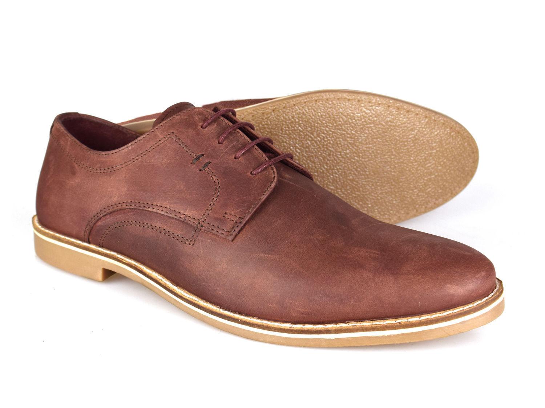 Red Tape Campton Men's Burgundy Suede Nubuck Casual Shoes Free UK P