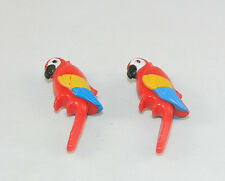 Playmobil 2 x Papagei Tierpark Zoo Puppenhaus 5300 6634 3965 4850 3240 #33365