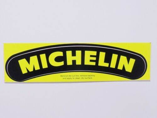 "NOS Michelin Decal 8/"" x 2-1//8/"" Motorcycle Race Car Original Vintage"