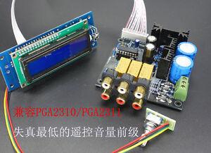 Details about PGA2311 Stero Remote Volume Controller Preamp preamplifier  DIY kit (unsolder)
