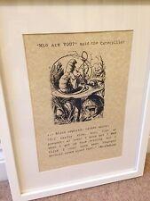Alice nel paese delle meraviglie $Poster Art nuovo design classico Caterpillar stampa