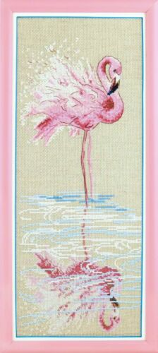 M-294 KIT Punto Croce in corrispondenza dell/'acqua Flamingo