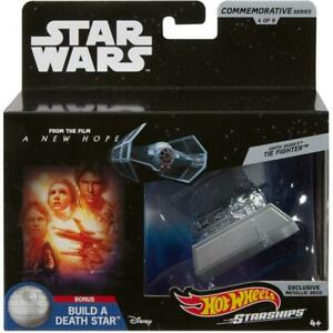 Hot-Wheels-Star-Wars-Commemorative-Series-Darth-Vader-039-s-Tie-Fighter-Starship