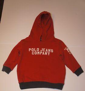 2337339ac3f46 Polo Ralph Lauren Toddler Baby Boy Girl Hoodie Sweatshirt Sz 2T Red ...