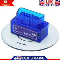 Mini OBD2 ELM327 V2.1 Bluetooth Car Scanner Android Torque Auto Scan Tool OBDII