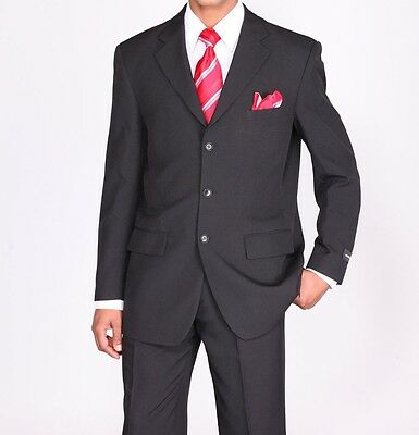 Fortino Landi Men's Basic Single Breast Work Suit 802P Three Button