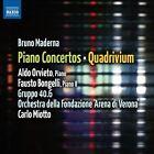 Bruno Maderna: Piano Concertos; Quadrivium (CD, Oct-2011, Naxos (Distributor))