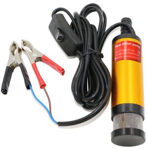 Edelstahl Wasser Pumpe Transfer Tauchpumpe für Diesel Öl 30 L/min 12V 51mm Auto
