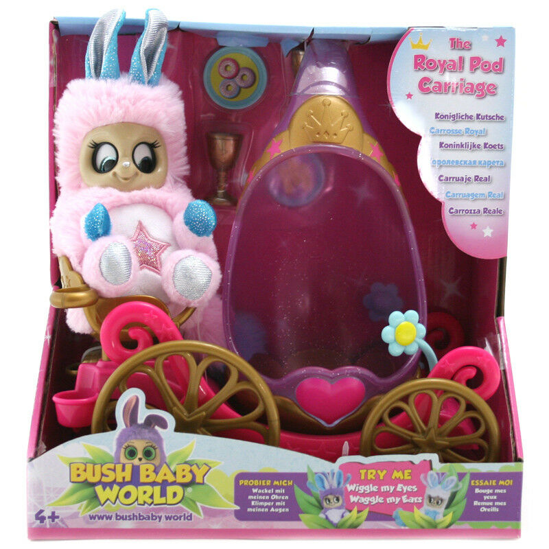 Bush Baby World The Royal Pod Carriage with Exclusive Bush Baby Starlena NEW