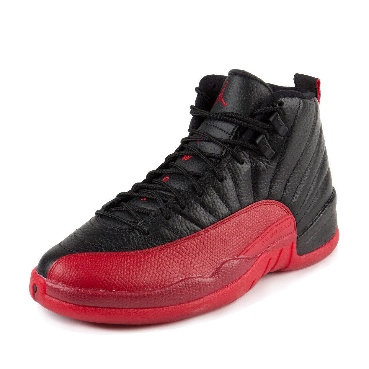 Nike Mens Air Jordan 12 Retro  Flu Games  Black Varisty Red 130690-002