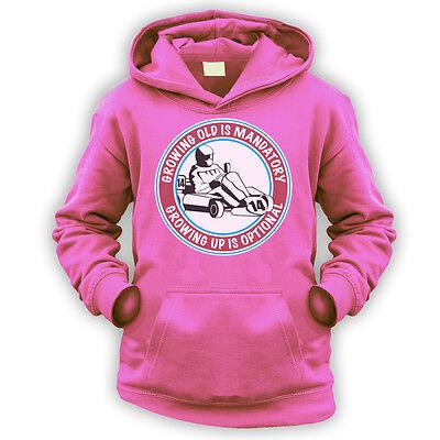 Grow Up Optional Go Kart Womens T-Shirt x14 Colours Superkart Racing Gift Funny