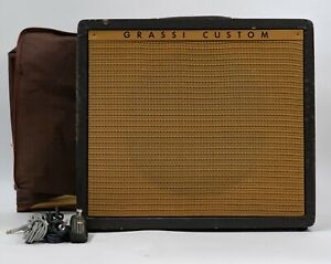 Grassi Custom U72 Vintage 1 x 12 Guitar Combo Amplifier w/ Cover and Footswitch
