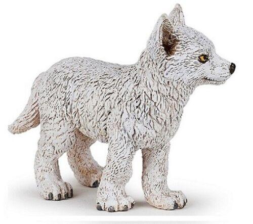 Papo 50228 Jeune Loup Arctique 6 cm Animaux Sauvages Nouveauté 2018
