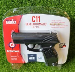 Crosman C11 Tactical CO2 .177 BB Black Synthetic Semi Auto Air Pistol - C11