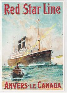 CP Poster Red STAR Lines Antwerp The Canada Edit Clouet 10354