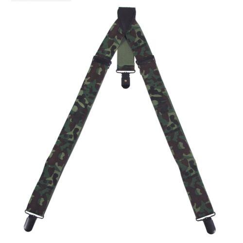 Hosenträger 3 Metallclips Y-Modell Suspenders Hosen Träger verstellbar flecktarn