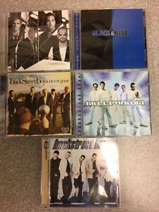 Backstreet-Boys-5-CD-s-Millennium-Self-Black-amp-Blue-Never-Gone-Unbreakable
