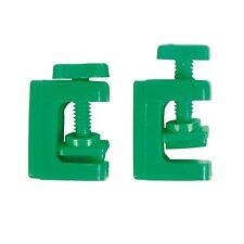 x2 Green Aquarium Air Line Tube Clamps Regulate Air Pump Flow Pressure