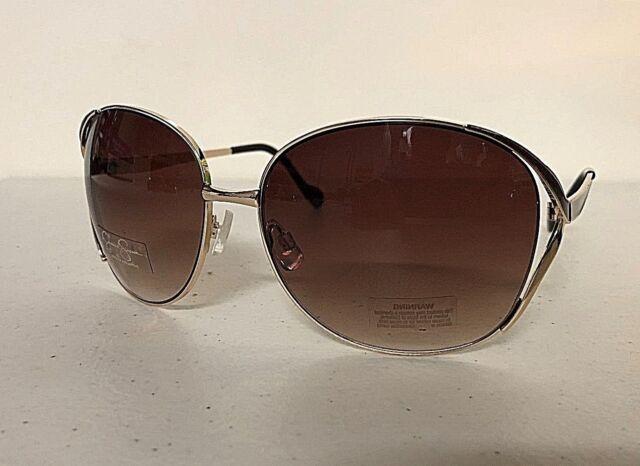 New JESSICA SIMPSON J5255 Women/'s Oversized Designer Sunglasses Gold Frame