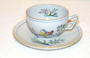 Spode Queen/'s Bird Fine Stone Y4973 Cup and Saucer