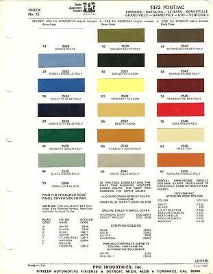 1973 PONTIAC FIREBIRD BONNEVILLE GTOGRAND AM CATALINA 73 PAINT CHIPS DITZLER 2