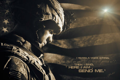 Send Me Military by Jason Bullard Military Print 16x24