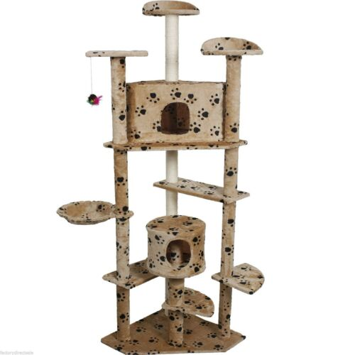 """80/"""" Pet Cat Kitty Kitten Tree Condo Scratch Post House Paws Cattery Furniture"""