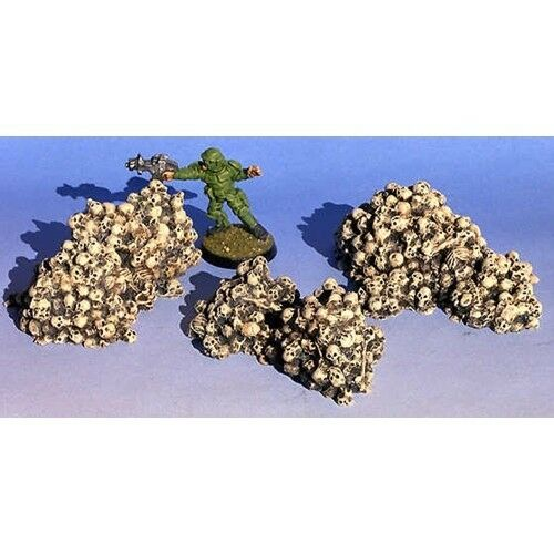 Armorcast ACB006 Small Skull Piles 3 pcs Resin Unpainted 28mm Scale