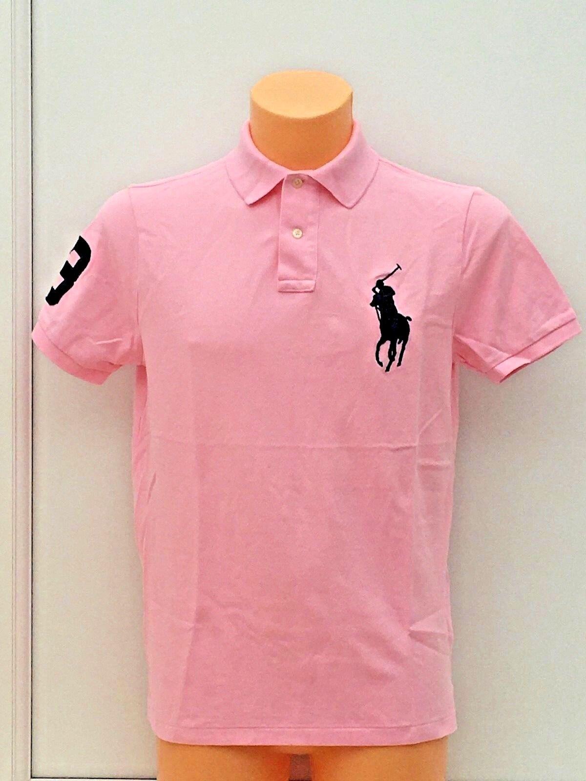 POLO RALPH LAUREN Signature Pony Logo Polo Shirt in Pink Sizes M - XXL BNWOT