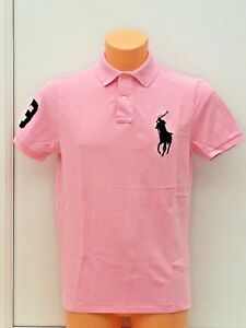 7f98ab06 POLO RALPH LAUREN Signature Pony Logo Polo Shirt in Pink Sizes M ...