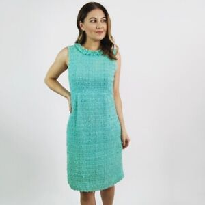 Kate-Spade-Tweed-Sleeveless-Shift-Dress-Women-039-s-Size-4