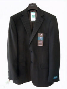 s Wool gessato completo Novità Chest Giacca Long Blend 40 80 Tailoring £ da L uomo M nera da dqwZEYd
