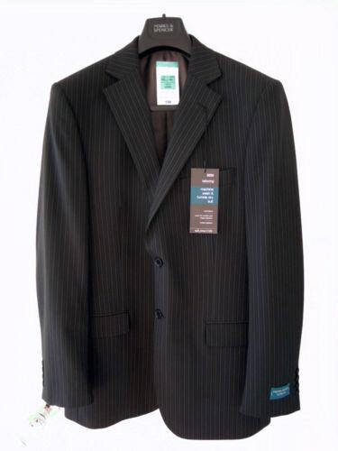 da s Long 80 L £ Chest Giacca nera M uomo Tailoring Novità gessato completo da Blend 40 Wool xHpPRX