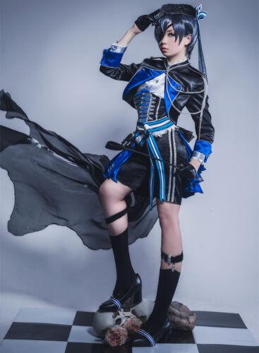 Black Butler Ciel Phantomhive Uniform Cosplay Costume Outfit Full Set
