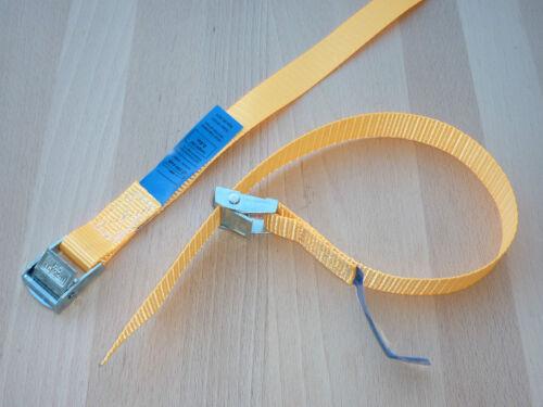 4 x Mini-Zurrgurte Spanngurte Befestigungsriemen Skiträger Fahrradträger orange
