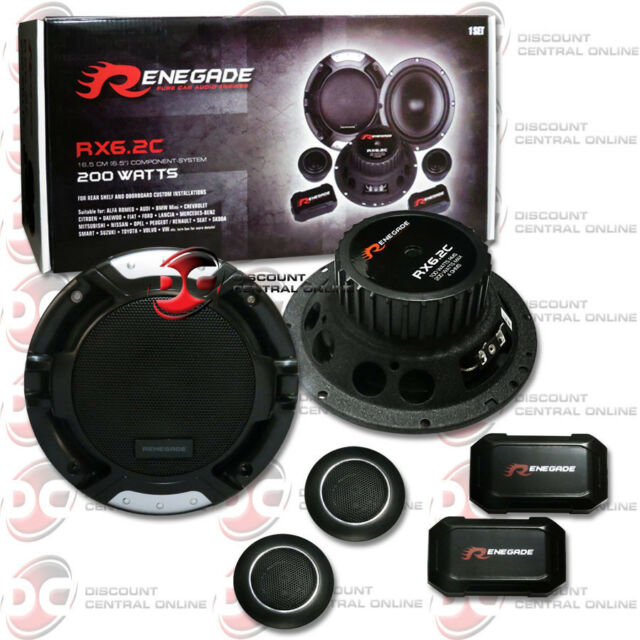 BRAND NEW RENEGADE 6.5-INCH 2-WAY CAR AUDIO COMPONENT SPEAKER SYSTEM PAIR 6-1/2""