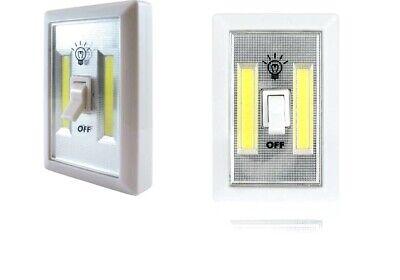 2pcs COB LED Peel N Stick Light Super Bright Campers Trunk Wireless Home Hallway