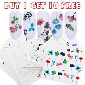 LEMOOC-Nail-Art-Water-Decals-Flower-Leaf-Nail-Transfer-Sticker-Buy-1-Get-10-Free