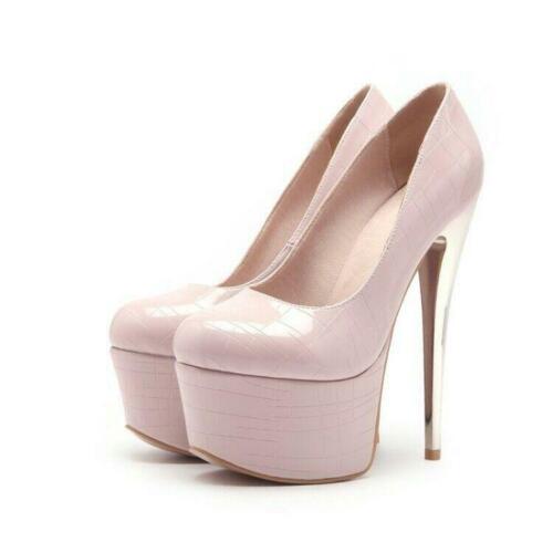 Fashion Women Platform High Heels Pumps PARTY Dress Shoes Stiletto Big Size 3-16